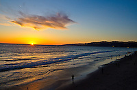 Santa Monica amid the sunset on Wednesday, February 27, 2013.