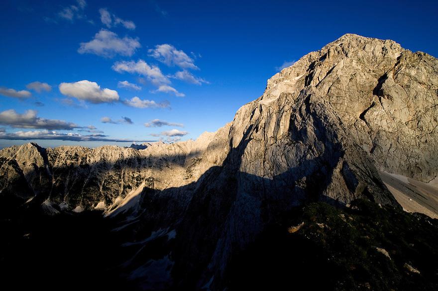 Mount Mangart, Julian Alps<br /> Triglav National Park, Slovenia<br /> July 2009