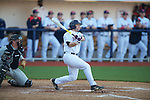 Ole Miss' Zach Kirksey (11) hits a three run home run vs. Arkansas State in baseball action at Oxford-University Stadium in Oxford, Miss. on Tuesday, February 21, 2012. Ole Miss won the home opener 8-1 to improve to 2-1 on the season. Arkansas State dropped to 0-3.