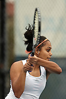 SAN ANTONIO, TX - FEBRUARY 3, 2012: The Midwestern State University Mustangs vs. The University of Texas at San Antonio Roadrunners Women's Tennis at the UTSA Tennis Center. (Photo by Jeff Huehn)