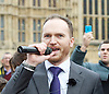 John Rees-Evans <br /> UKIP member and activist and <br /> UKIP Leadership candidate <br /> speaking at a Pro-Brexit Rally on College Green, Westminster, London, Great Britain <br /> 23rd November 2016 <br /> <br /> Sam Gould <br /> <br /> <br /> <br /> Photograph by Elliott Franks <br /> Image licensed to Elliott Franks Photography Services