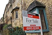 Estate Agent 'For Sale'Board, Burford, England, United Kingdom