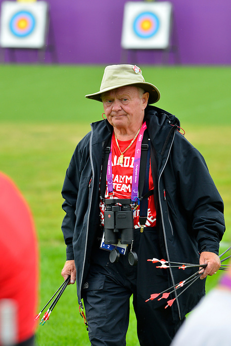 LONDON, ENGLAND 27/08/2012 - Head Coach Vladimir Kopecky of the Canadian Paralympic Archery Team at a training session at the London 2012 Paralympic Games at The Royal Artillery Barracks. (Photo: Phillip MacCallum/Canadian Paralympic Committee)