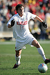 Maryland's Marc Burch. The University of Maryland Terrapins defeated the University of New Mexico Lobos 1-0 in the Men's College Cup Championship game at SAS Stadium in Cary, NC, Friday, December 11, 2005.