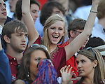 Mississippi football fans cheer vs. Auburn on Saturday, October 30, 2010. Auburn won 51-31.