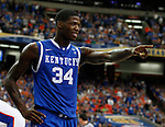 DeAndre Liggins points after a technical foul is called on a Florida player in the championship of the 2011 SEC Men's Basketball, at the Georgia Dome, Sunday, March 13, 2011.  Photo by Latara Appleby | Staff