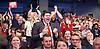 Labour Leadership <br /> Conference <br /> at The QE Conference Centre, Westminster, London, Great Britain <br /> 12th September 2015 <br /> <br /> audience reaction to Corbyn win (John Prescott on far right) <br /> <br /> <br /> <br /> Photograph by Elliott Franks <br /> Image licensed to Elliott Franks Photography Services