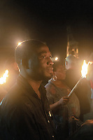 fiaccolata contro la tratta di esseri umani organizzata dall'associazione &quot;Donne del Benin&quot; a Palermo.<br />