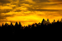 &quot;KOOTENAI SUNDOWN&quot;<br /> <br /> Sunset lights up the western sky in the Kootenai National Forest, Montana