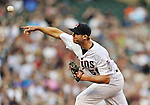 29 September 2012: Minnesota Twins pitcher Casey Fien in action against the Detroit Tigers at Target Field in Minneapolis, MN. The Tigers defeated the Twins 6-4 in the second game of their 3-game series. Mandatory Credit: Ed Wolfstein Photo