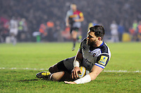 Jeff Williams of Bath Rugby scores a try in the second half. Aviva Premiership match, between Harlequins and Bath Rugby on March 11, 2016 at the Twickenham Stoop in London, England. Photo by: Patrick Khachfe / Onside Images