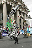 17/03/2011.Peformers & Entertainers.during the St. Patrick's Day festival in Dublin's City Centre..Photo: Gareth Chaney Collins
