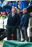 St Johnstone v Rangers....13.05.12   SPL.Ally McCoist and Ian Durrant all smiles.Picture by Graeme Hart..Copyright Perthshire Picture Agency.Tel: 01738 623350  Mobile: 07990 594431
