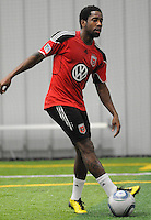 DC United midfielder Clyde Simms (19)  at the first official training session of the 2011 MLS season.  At Greenbelt Sportsplex, Friday January 28, 2011.