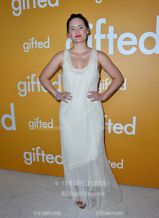 Actress Mary Chieffo at the premiere for &quot;Gifted&quot; at The Grove. Los Angeles, USA 04 April  2017<br /> Picture: Paul Smith/Featureflash/SilverHub 0208 004 5359 sales@silverhubmedia.com