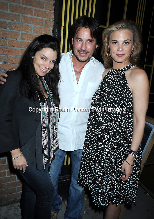 "Gretta Monahan and boyfriend  Ricky Paull Goldin and Gina Tognoni attending the viewing party for TLC's Series ""Seeing Vs Believing"" which is hosted by Ricky Paull Goldin of All My Children and Jeff Gurtman on May 2, 2010 at Stanton Public in New York City."