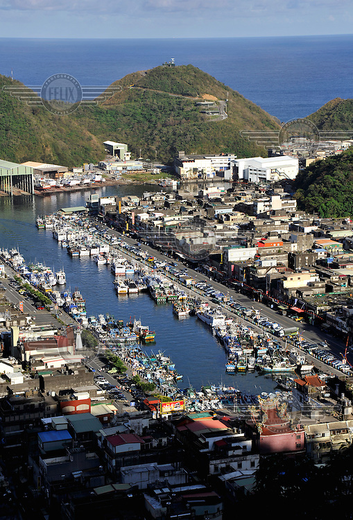 Boats in Nanfangao fishing port on the Ilan coastline.