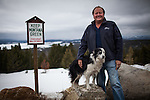 Former Montana Governor Brian Schweitzer poses for a portrait with his dog Jag in Anaconda, Montana, May 7, 2014.<br /> CREDIT: Max Whittaker/Prime for The Wall Street Journal<br /> BRIAN
