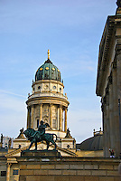 The Deutscher Dom or German Cathedral also known as the New Church (German: Neue Kirche) is located in Berlin on the Gendarmenmarkt