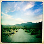 Four-wheel drive road into the Anza-Borrego Desert, California, USA.