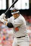 21 May 2006: Kevin Millar, infielder for the Baltimore Orioles, takes a warmup swing during a game against the Washington Nationals at RFK Stadium in Washington, DC. The Nationals defeated the Orioles 3-1 to take 2 of 3 games in their first inter-league series...Mandatory Photo Credit: Ed Wolfstein Photo..