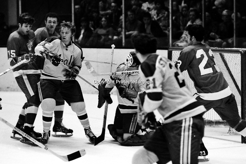 California Golden Seals vs Detroit Red Wings 1971<br />