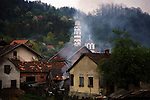 Bosnian Serbian village near the Serbian border..