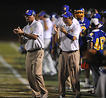 Oxford High coaches Johnny Hill (left) and Chris Cutcliffe vs. Senatobia in high school football in Oxford, Miss. on Friday, September 9, 2011. Oxford won 40-20.