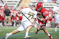 Towson, MD - March 25, 2017: Towson Tigers Tyler Young (23) in action during game between Towson and Denver at  Minnegan Field at Johnny Unitas Stadium  in Towson, MD. March 25, 2017.  (Photo by Elliott Brown/Media Images International)