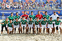 Mexico team group line up (MEX), SEPTEMBER 02, 2011 - Beach Soccer : FIFA Beach Soccer World Cup Ravenna-Italy 2011 Group D match between Japan 2-3 Mexico at Stadio del Mare, Marina di Ravenna, Italy, (Photo by Enrico Calderoni/AFLO SPORT) [0391]