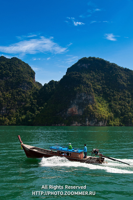 Longtail boat in Phang Nga Bay, Thailand