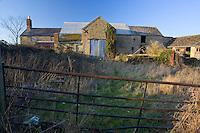 Derelict Cotswold farm building, Oxfordshire, United Kingdom