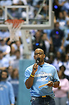 "13 October 2006: Stuart Scott, UNC graduate and ESPN personality, emcees the festivities. The University of North Carolina at Chapel Hill Tarheels held their first Men's and Women's basketball practices of the season as part of ""Late Night with Roy Williams"" at the Dean E. Smith Center in Chapel Hill, North Carolina."