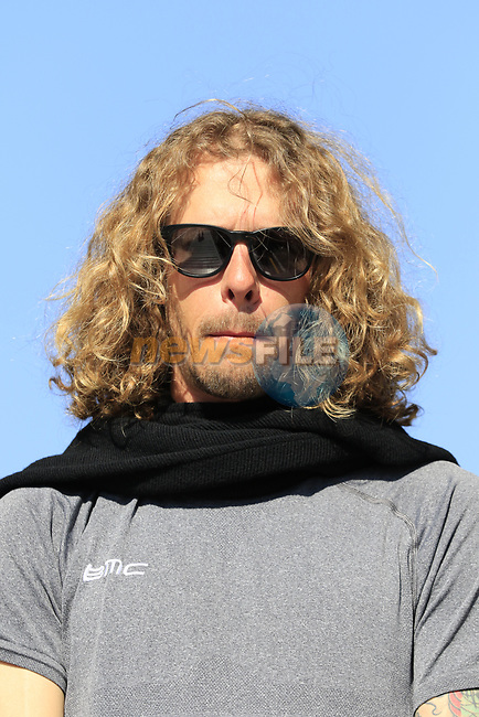 Daniel Oss (ITA) BMC Racing Team at the Team Presentation for the upcoming 115th edition of the Paris-Roubaix 2017 race held in Compiegne, France. 8th April 2017.<br /> Picture: Eoin Clarke | Cyclefile<br /> <br /> <br /> All photos usage must carry mandatory copyright credit (&copy; Cyclefile | Eoin Clarke)