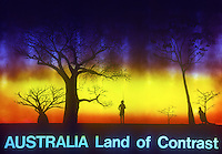 Sign Board - Australia Land of Contrast, Outback of Australia