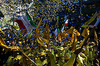 Iranian people take part in a protest against U.N. near their headquarters in New York,  Sept 24, 2013, Photo by Stringer / VIEWpress.