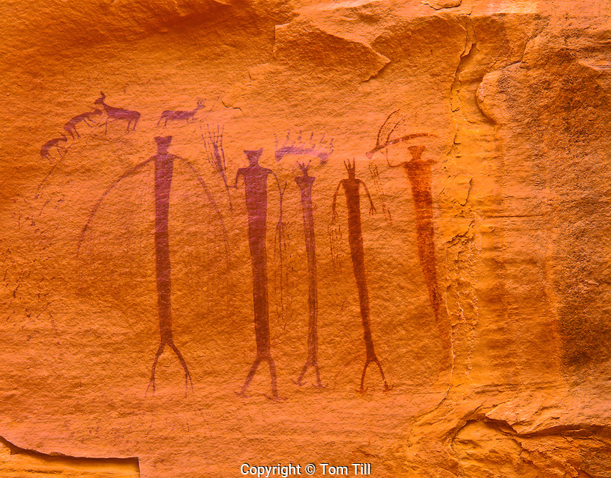 Barrier Canyon Style Pictographs, Proposed San Rafael Wilderness, Sids Mountain Wilderness Study Area, Utah