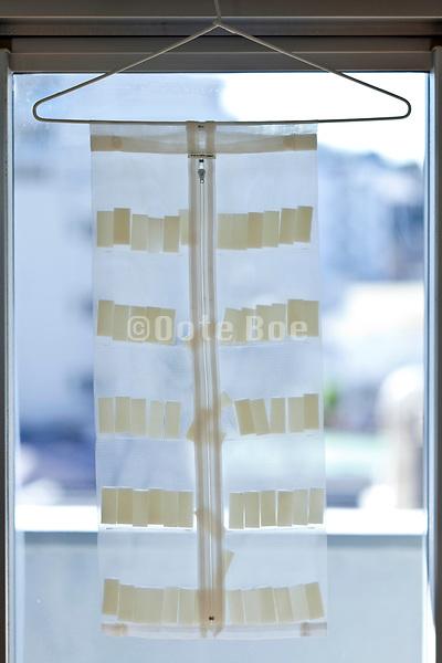 drying slices mochi rice cake Japan
