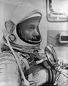 Astronaut John H. Glenn Jr., fully suited for the launch of MA-6/Friendship 7 at Cape Canaveral, Florida on February 20, 1962. .Credit: NASA / CNP