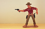 Model cowboy firing gun
