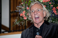John Pilger, journalist - 2011<br /> <br /> London, 26/10/2011. The NUJ (National Union Of Journalist) presented a public meeting aimed to discuss the entrenched problems of the media industry which is in public turmoil since the July phone hacking scandal. The speakers included, John Pilger (Investigative journalist and documentary maker), Donnache Delong (NUJ national president), Becky Brandford (NUJ Mother of Chapel, BBC), Gary McFarlane (NUJ activist andTottenham Defence Campaign).