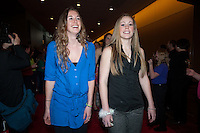 INDIANAPOLIS, IN - APRIL 1, 2011: Hannah Donaghe and Lindy La Rocque walk the red carpet at the Indianapolis Convention Center at Tourney Town during the NCAA Final Four in Indianapolis, IN on April 1, 2011.