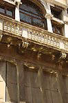 Italian building with grand balcony in Venice