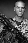 PFC Jeffrey Draney, 19, Allegan, Michigan, 1st Platoon, Kilo Co., 3rd Battalion 1st Marines, 1st Marine Division, United States Marine Corps at the company's firm base in Haditha, Iraq on Oct. 22, 2005.