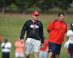 as Mississippi began spring practice in Oxford, Miss. on Friday, March 23, 2012. (AP Photo/Oxford Eagle, Bruce Newman)