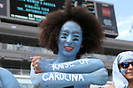 17 September 2016: UNC fan. The University of North Carolina Tar Heels hosted the James Madison University Dukes at Kenan Memorial Stadium in Chapel Hill, North Carolina in a 2016 NCAA Division I College Football game.