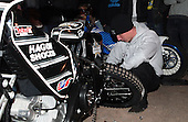 The mechanics wheel changing competition - Lakeside Hammers Open Evening at the Arena Essex Raceway, Pufleet - 23/03/12 - MANDATORY CREDIT: Rob Newell/TGSPHOTO - Self billing applies where appropriate - 0845 094 6026 - contact@tgsphoto.co.uk - NO UNPAID USE..