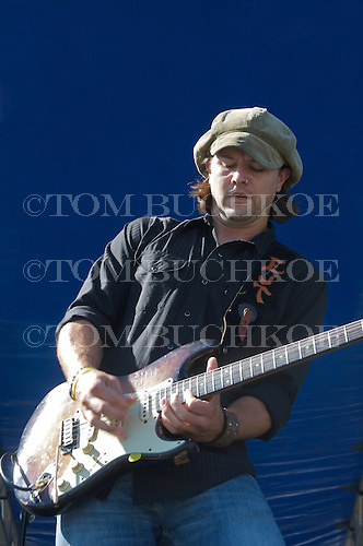 Eric Tessmer plays the blues at the 2008 Marquette Area Blues Fest in Marquette Michigan.