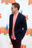WESTWOOD, CA - OCTOBER 23: Justin Timberlake at the premiere Of 20th Century Fox's 'Trolls' at Regency Village Theatre on October 23, 2016 in Westwood, California. Credit: David Edwards/MediaPunch