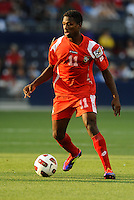 Armando Coope midfielderr Panama in action...Canada and Panama tied 1-1 in Gold Cup play at LIVESTRONG Sporting Park, Kansas City, Kansas.